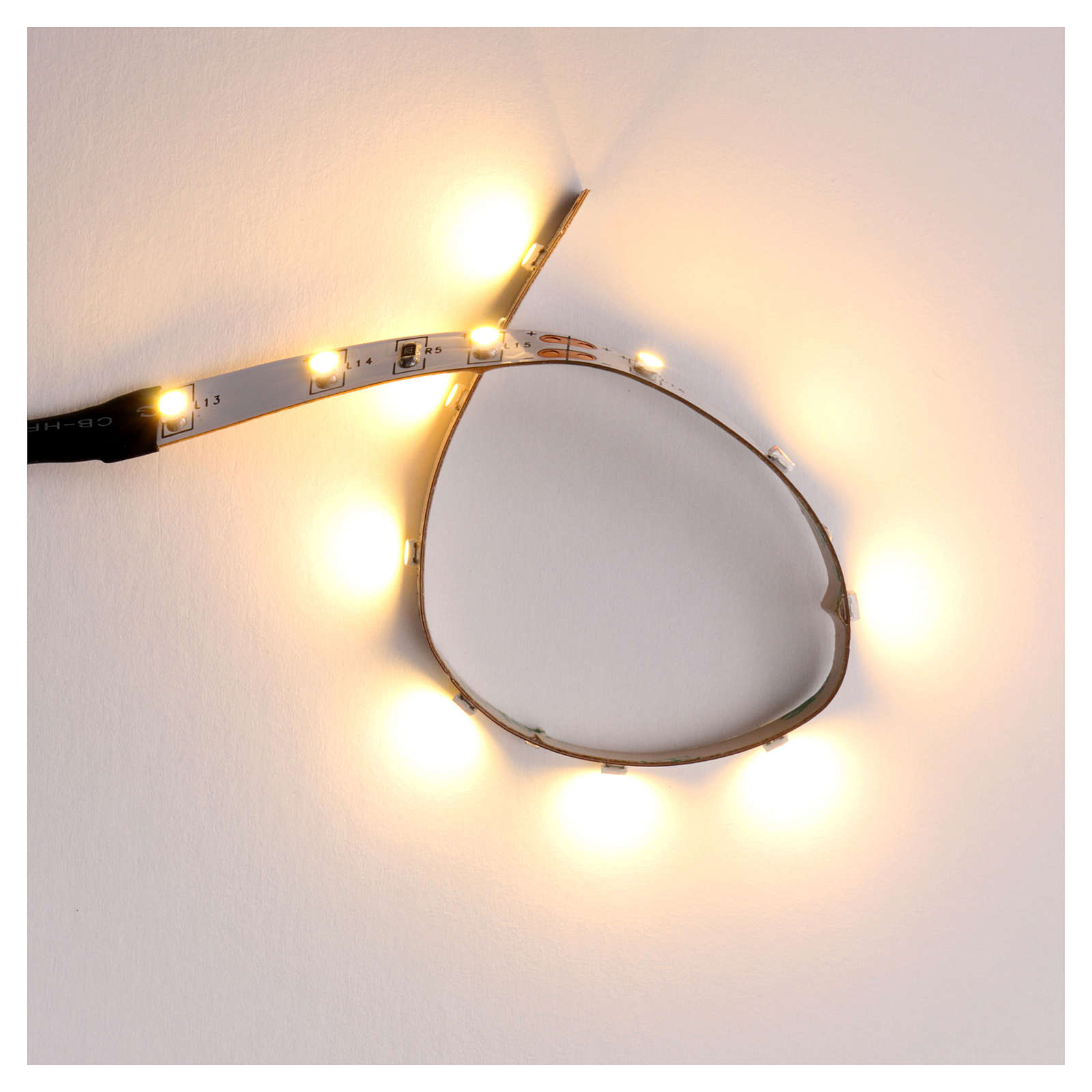 LED strip with 12 lights 0,8x16cm, warm white for Frisalight 4