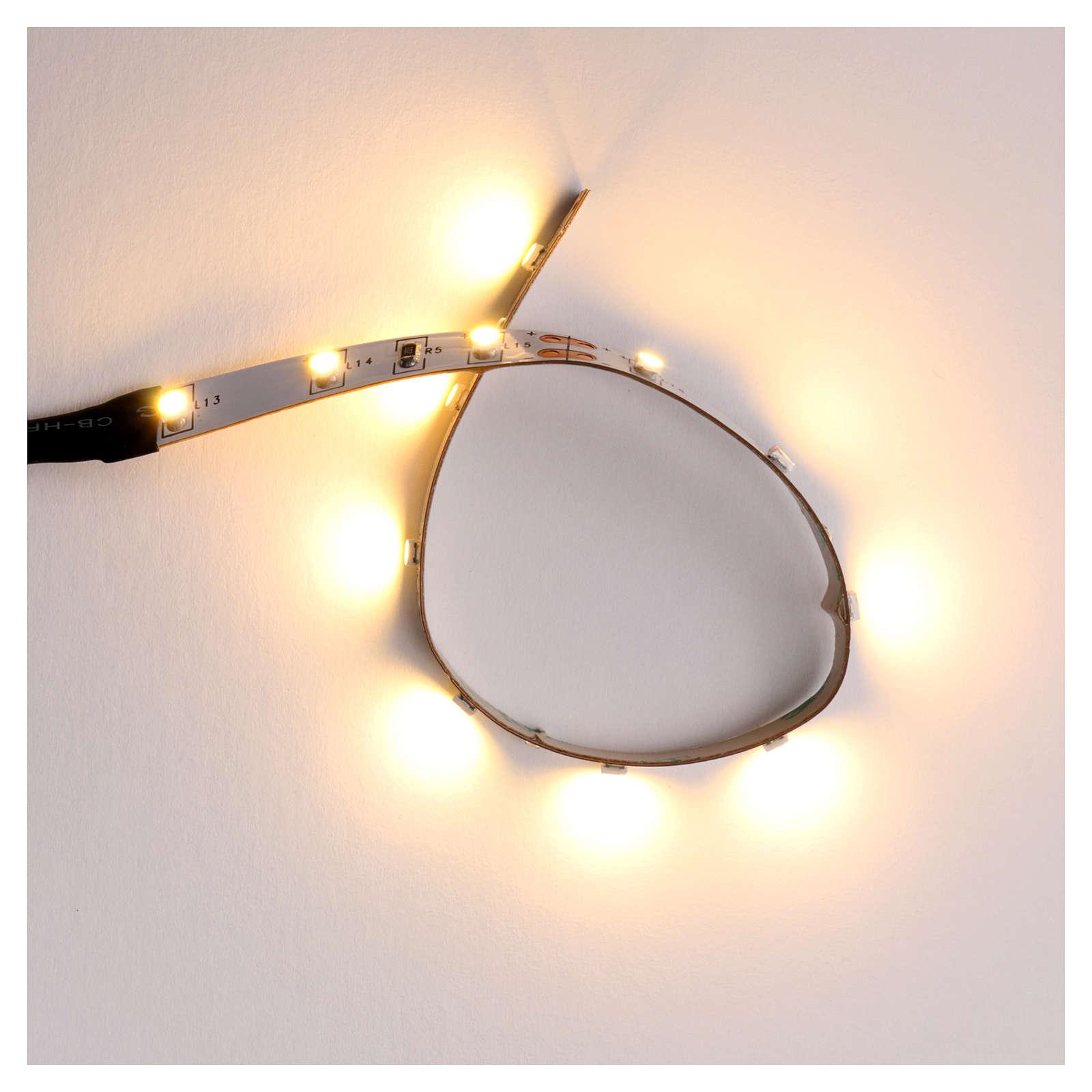 Tira de 12 LED cm. 0.8x16 cm. blanca caliente Frisalight 4