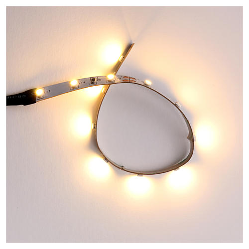 Tira de 12 LED cm. 0.8x16 cm. blanca caliente Frisalight 1