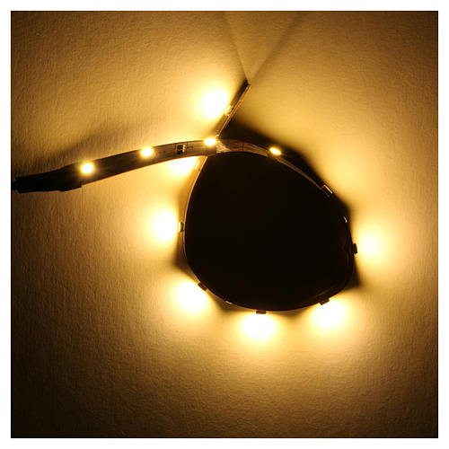 Tira de 12 LED cm. 0.8x16 cm. blanca caliente Frisalight 2