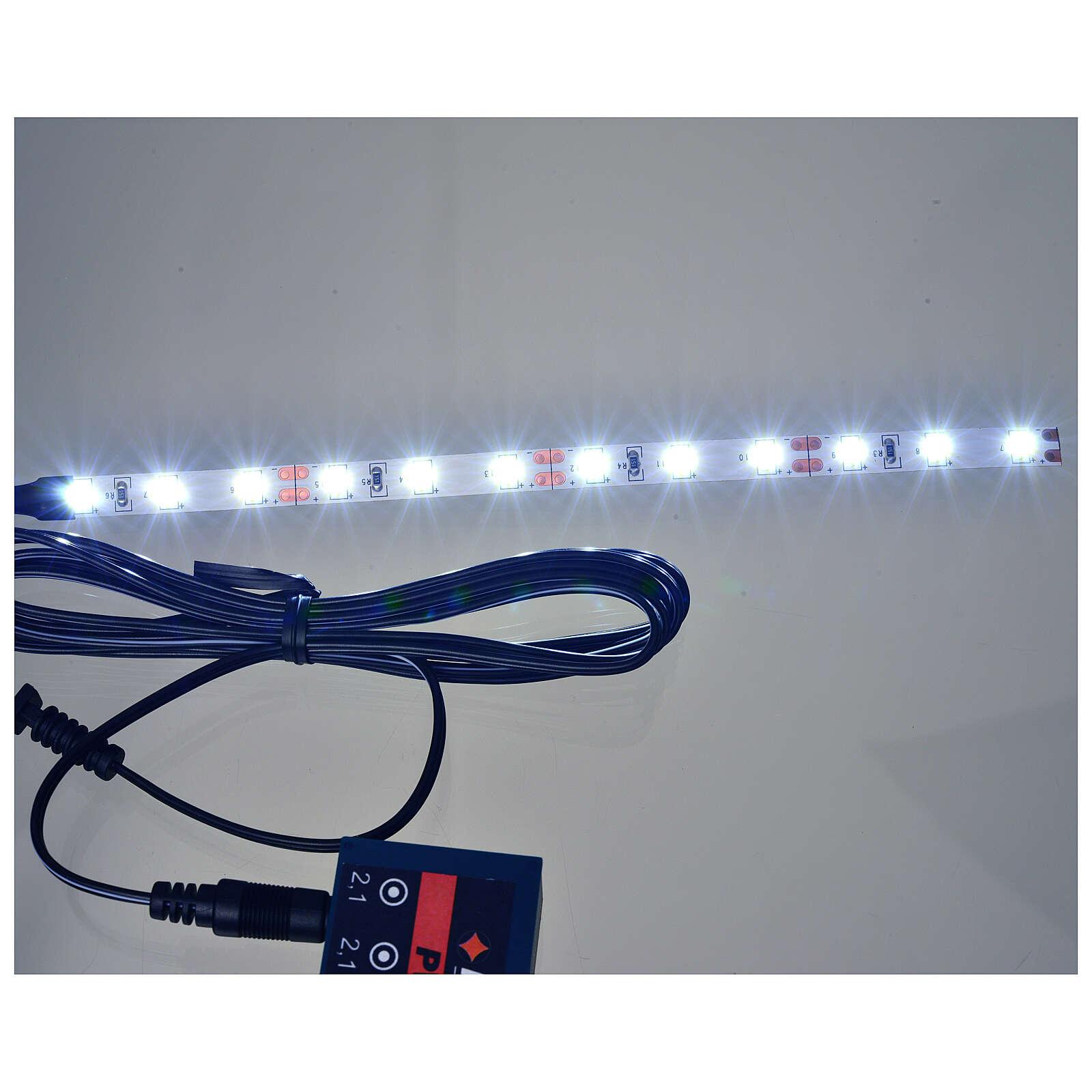 Tira de 12 LED cm. 0.8x16 cm. blanca fría Frisalight 4