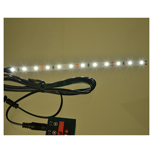 Tira de 12 LED cm. 0.8x16 cm. blanca fría Frisalight 2