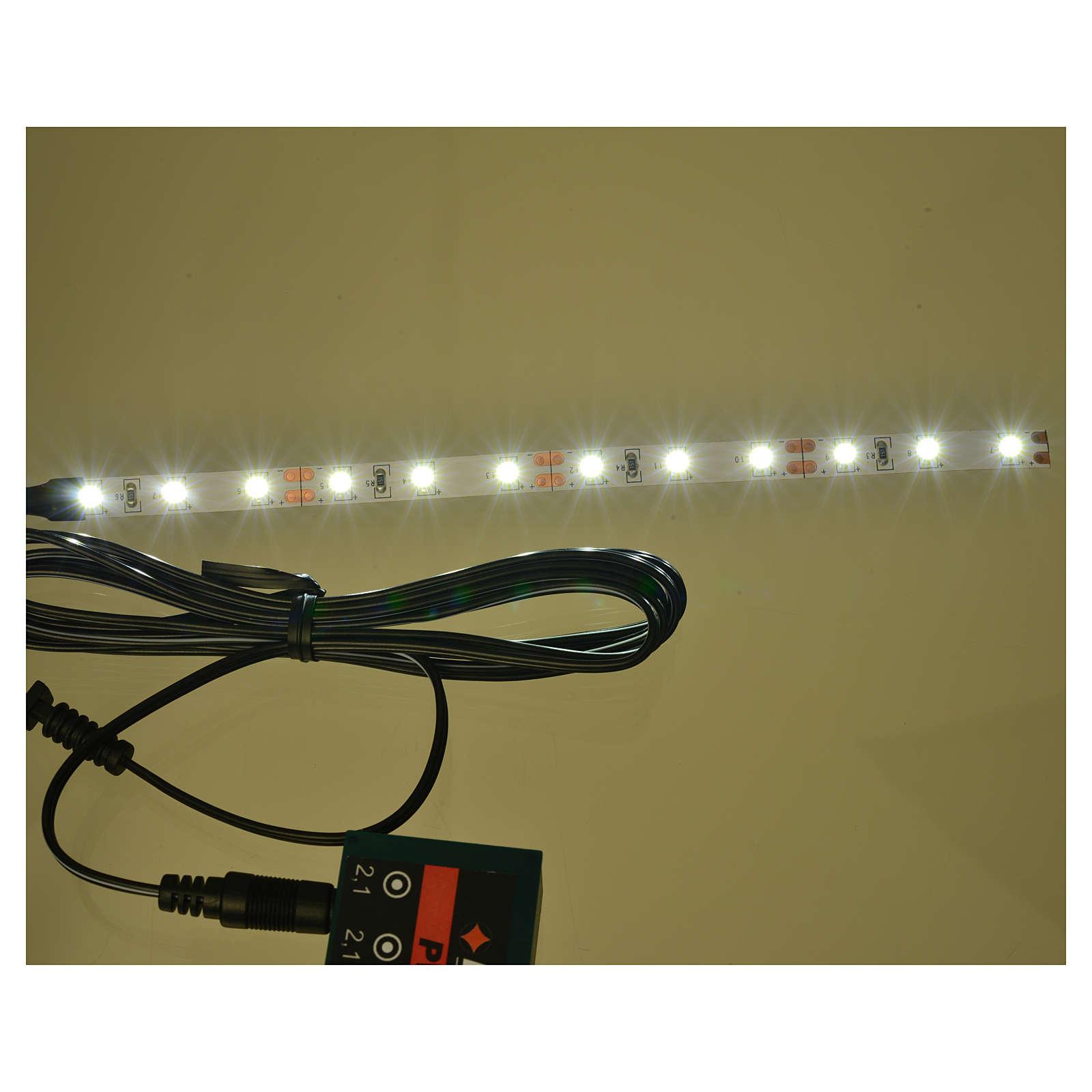 Bande 12 micro-leds pour Frisalight blanc froid 0,8x16 cm 4