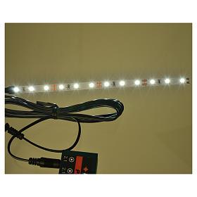 Bande 12 micro-leds pour Frisalight blanc froid 0,8x16 cm s2