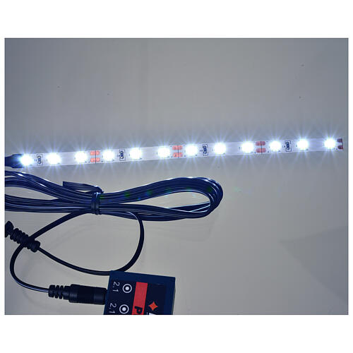 LED strip with 12 lights 0,8x16cm, white for Frisalight 2