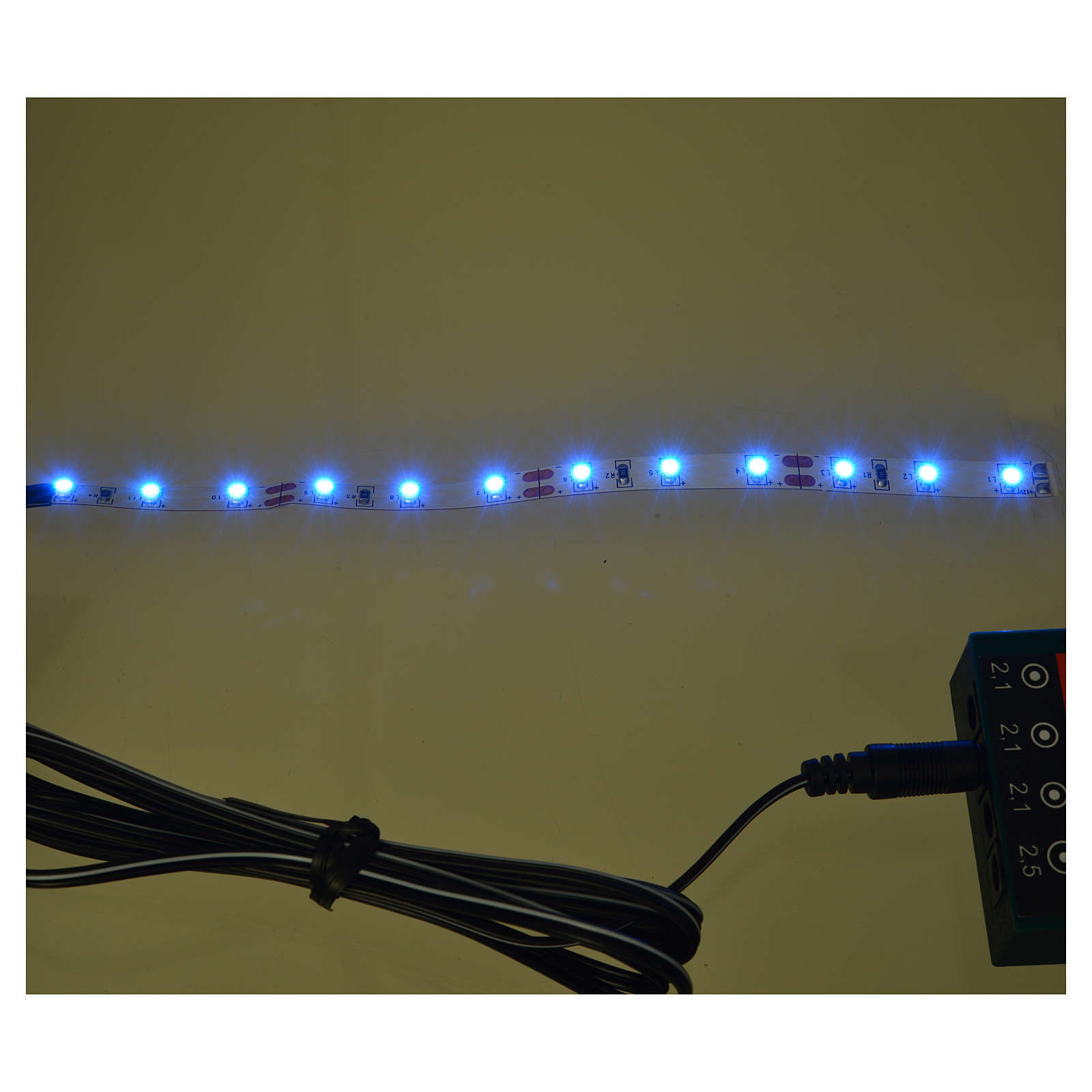 LED strip with 12 lights 0,8x16cm, blue for Frisalight 4