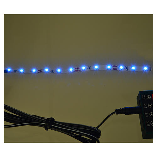 LED strip with 12 lights 0,8x16cm, blue for Frisalight 2