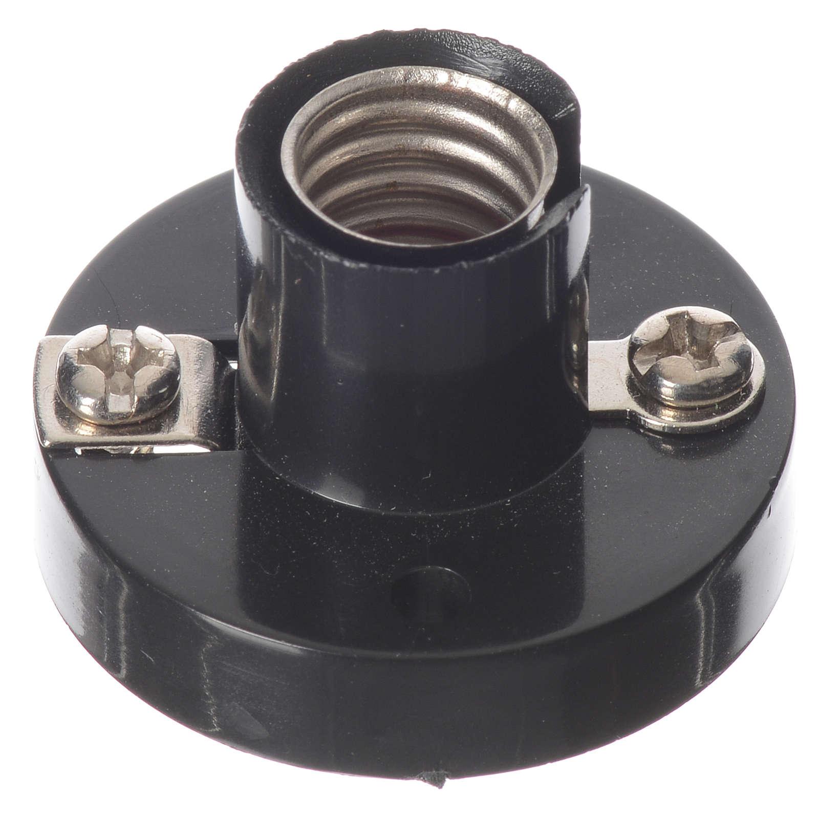 Portalampada E10 per lampadine micromignon C11 per presepi 4
