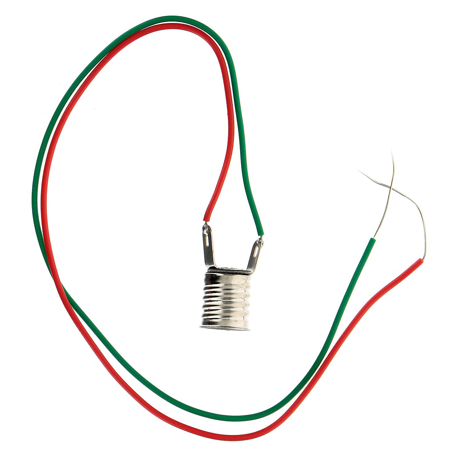 Lampenfassung E10 für Glühbirnen Micromignon C11 vereinte Drähte 4