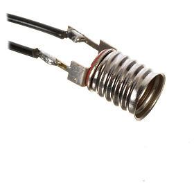 Luzes e Lamparinas para o Presépio: Casquilho E10 nu para lâmpada mini C11 fios soldados