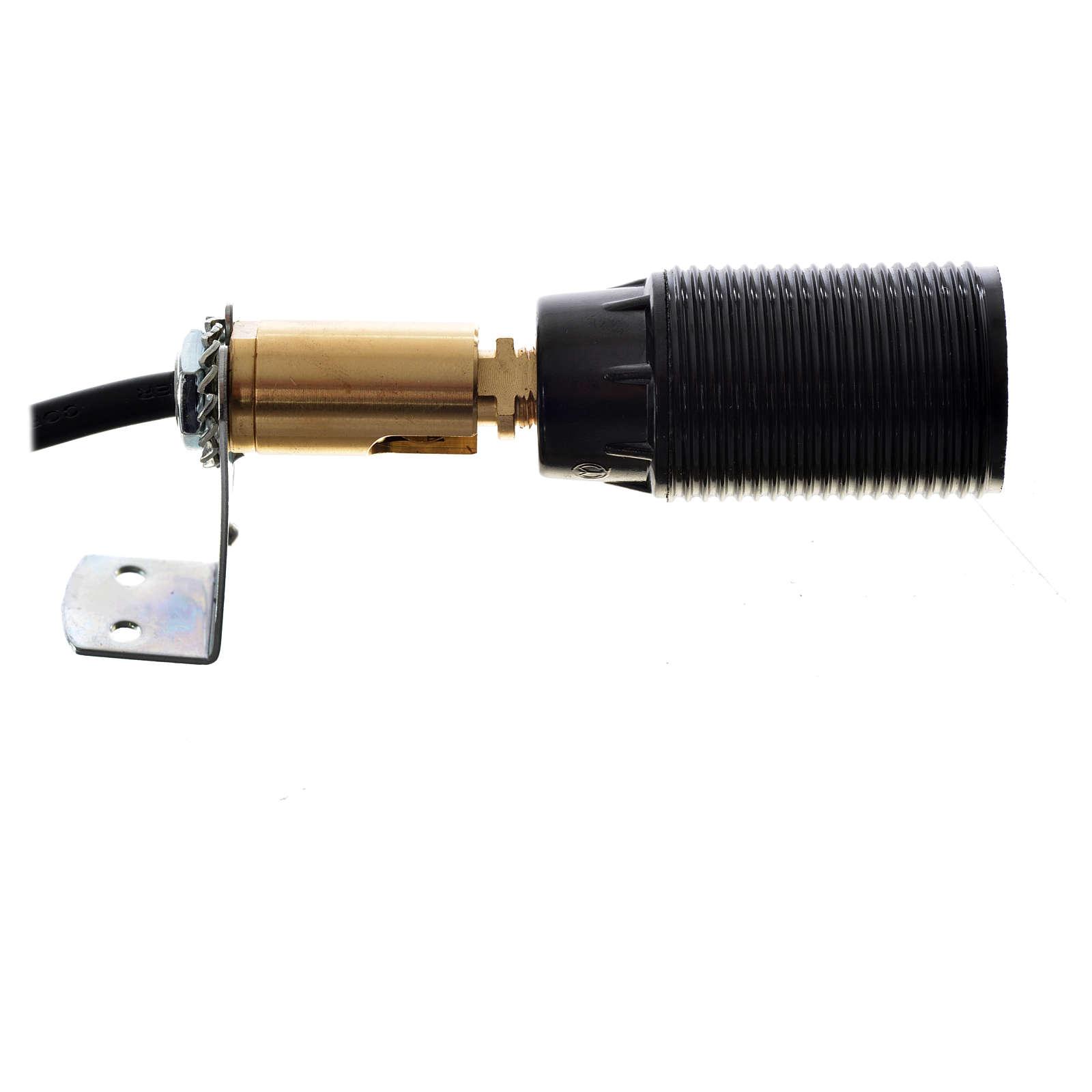 Portalampada attacco E14 con snodo orientabile e cavo aliment. 4