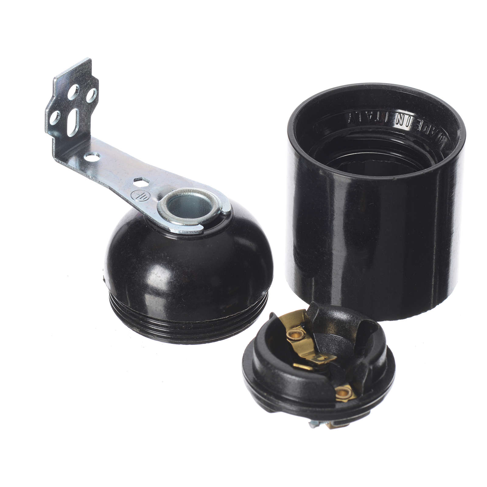 Lamp holder E27 with right angle bracket and fixing holes 4