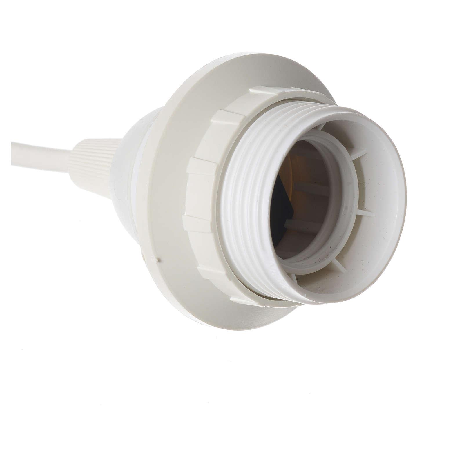 lampenfassusng e27 weiss mit kabel und steckdose | online verfauf