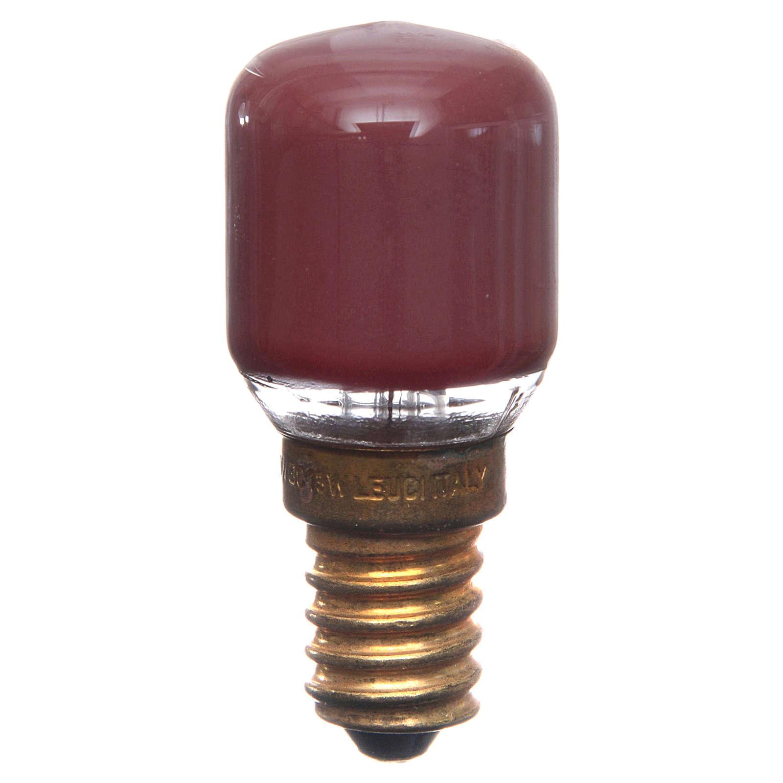 Lampada 15W rossa E14 per illuminazione presepi 4