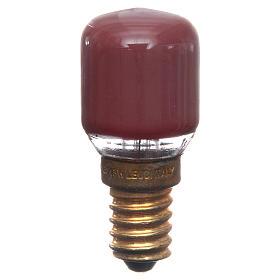 Lampada 15W rossa E14 per illuminazione presepi s1