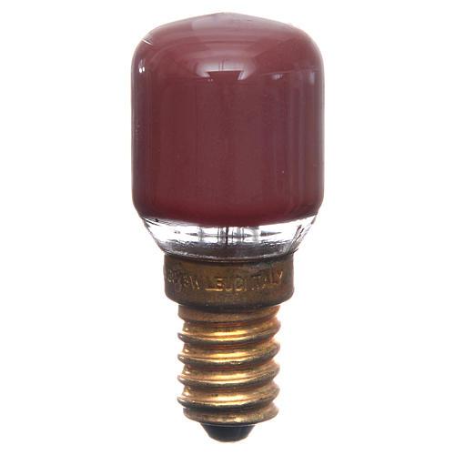 Lampada 15W rossa E14 per illuminazione presepi 1