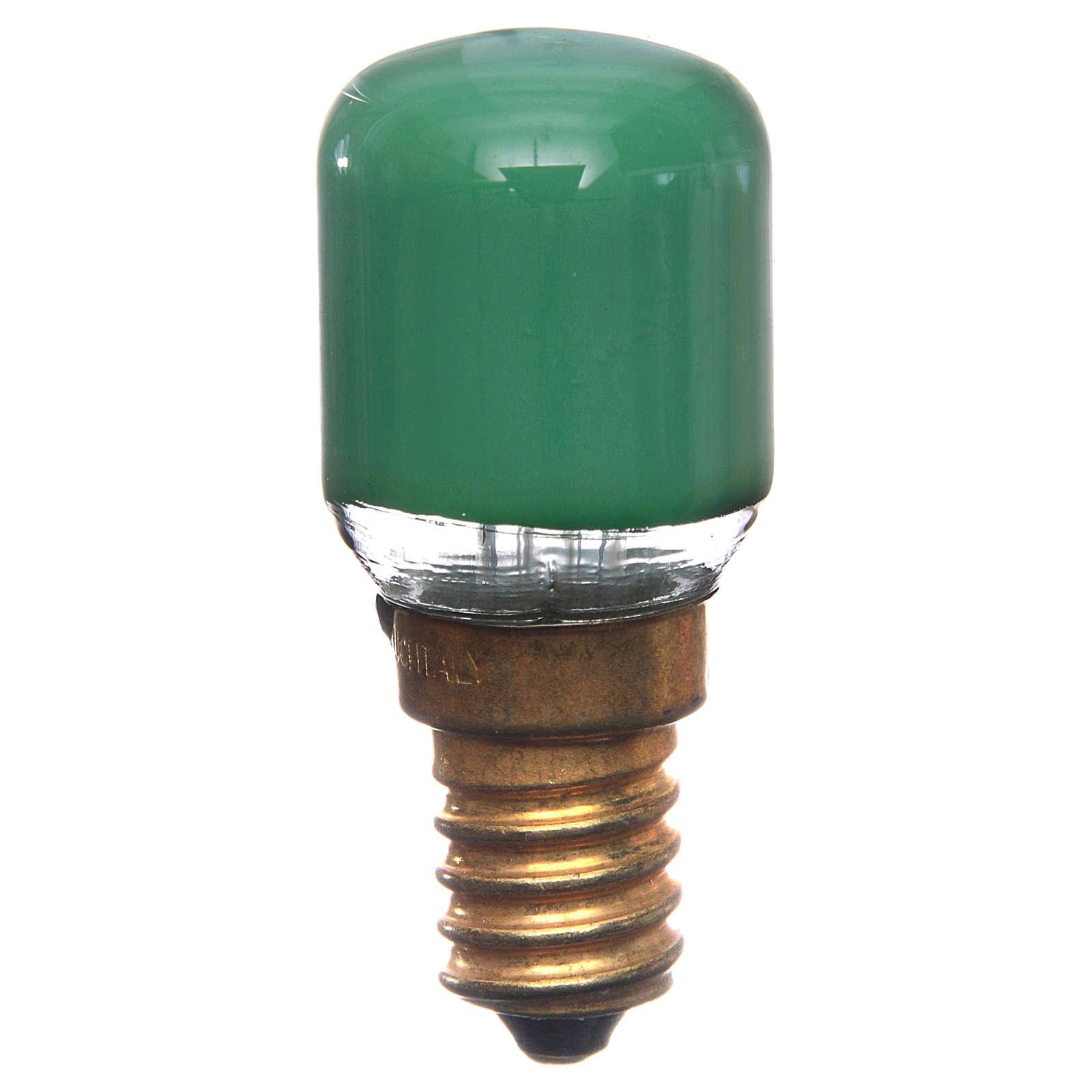Bombilla 15w verde E14 para belén 4