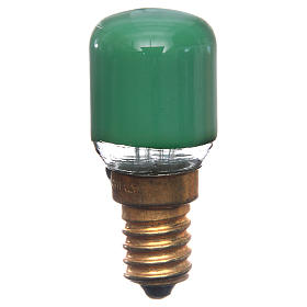 Nativity lights and lamps: Lamp for nativity lighting 15W, green, E14