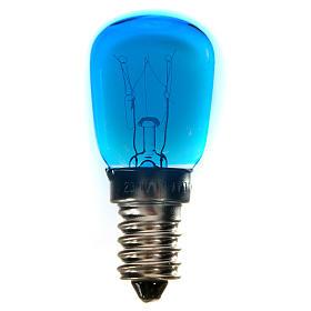 Bombilla 15w azul E14 para belén s1