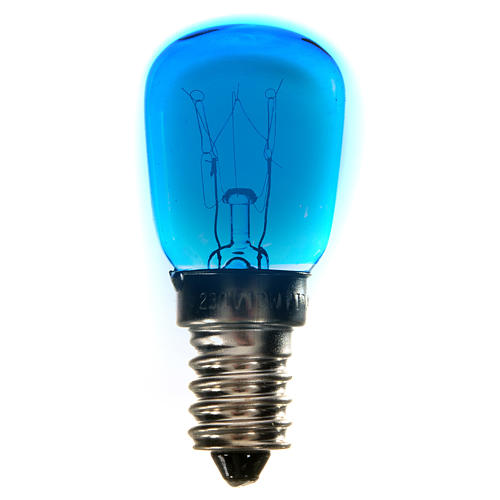 Bombilla 15w azul E14 para belén 1