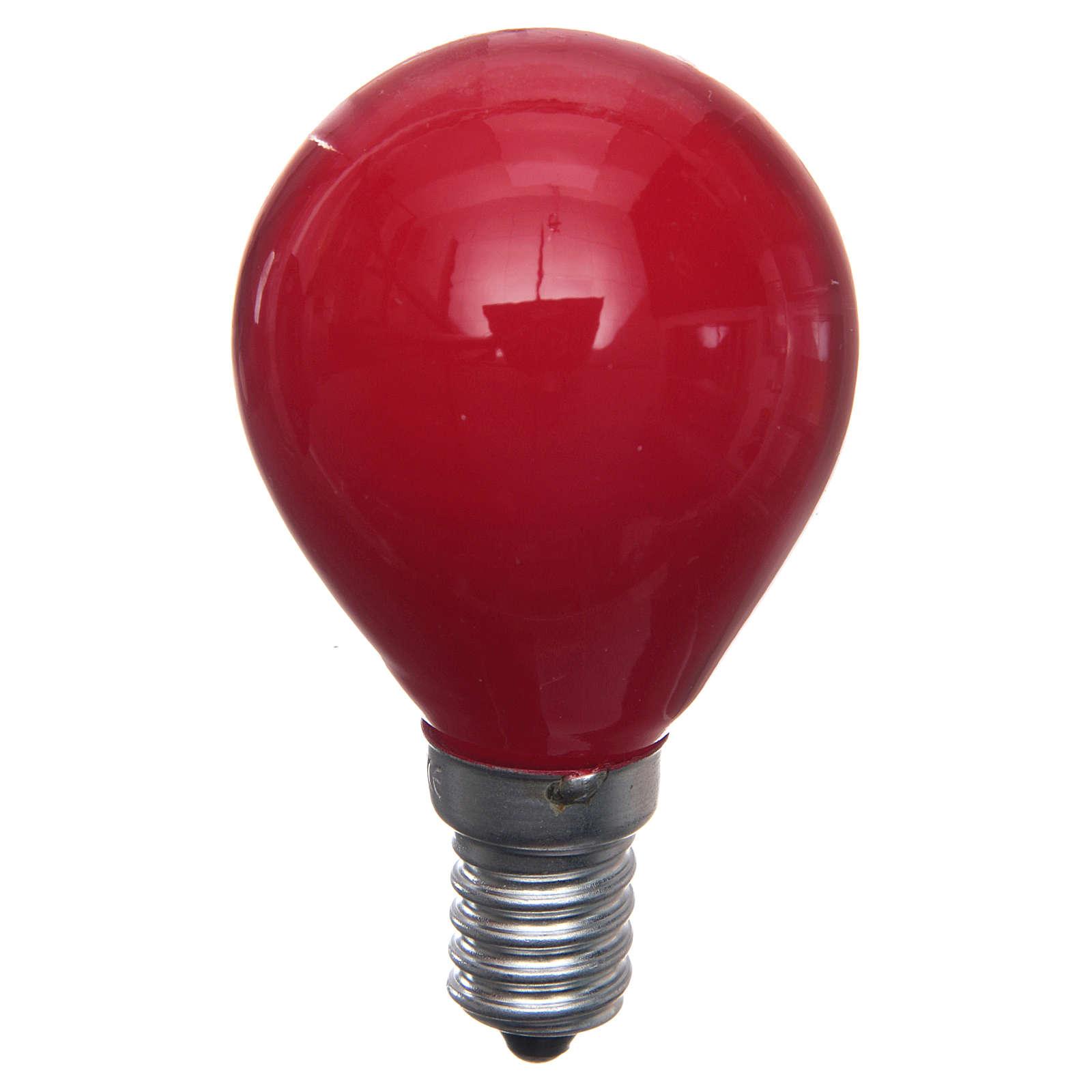 Lampada 25W rossa E14 per illuminazione presepi 4