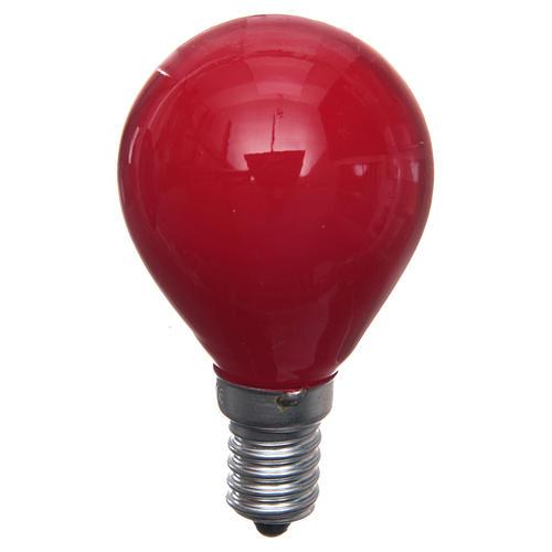Lampada 25W rossa E14 per illuminazione presepi 1