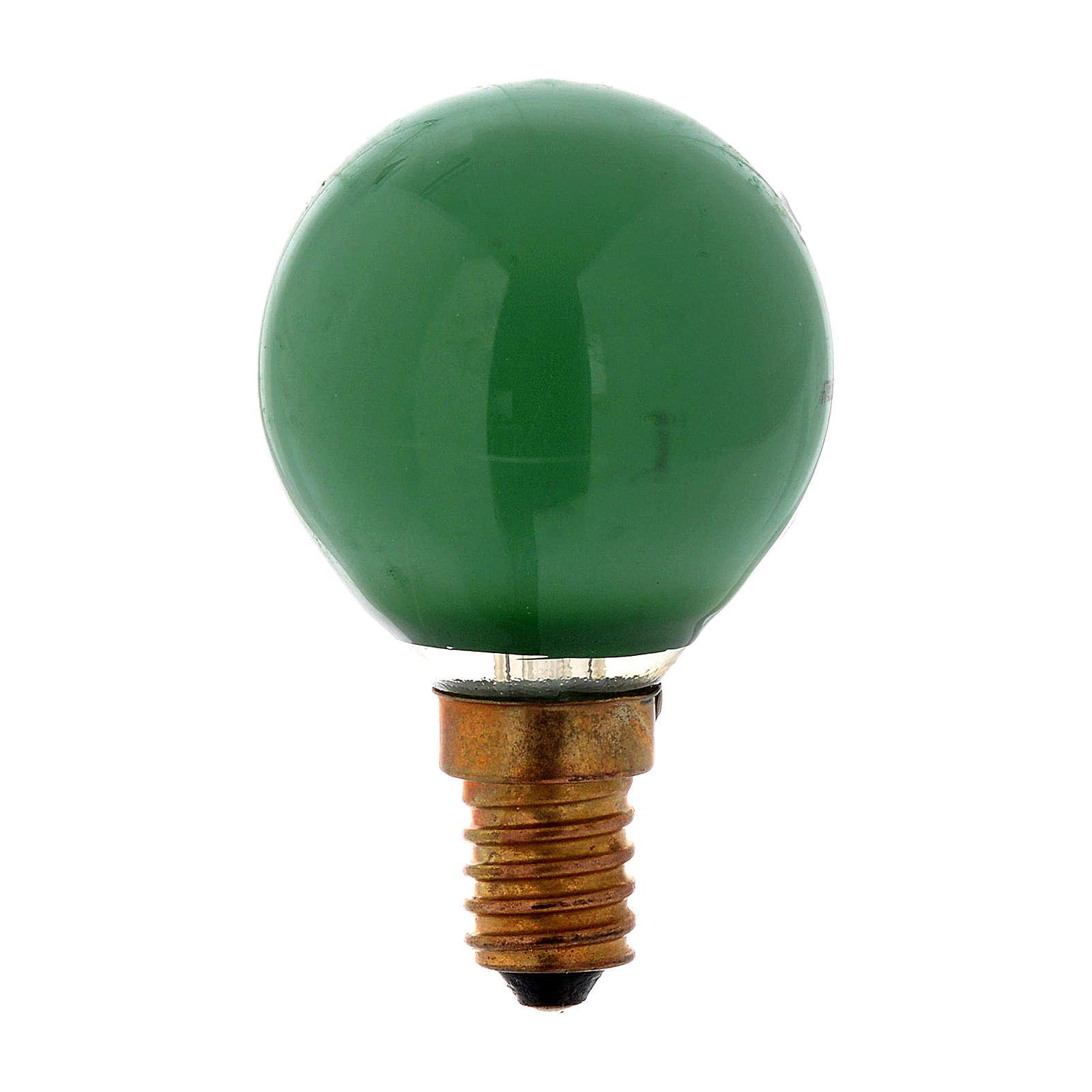 Ampoule 25W E14 vert illumination crèche noël 4