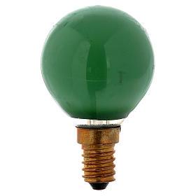 Lampada 25W verde E14 per illuminazione presepi s1