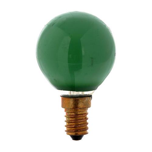 Lampada 25W verde E14 per illuminazione presepi 1