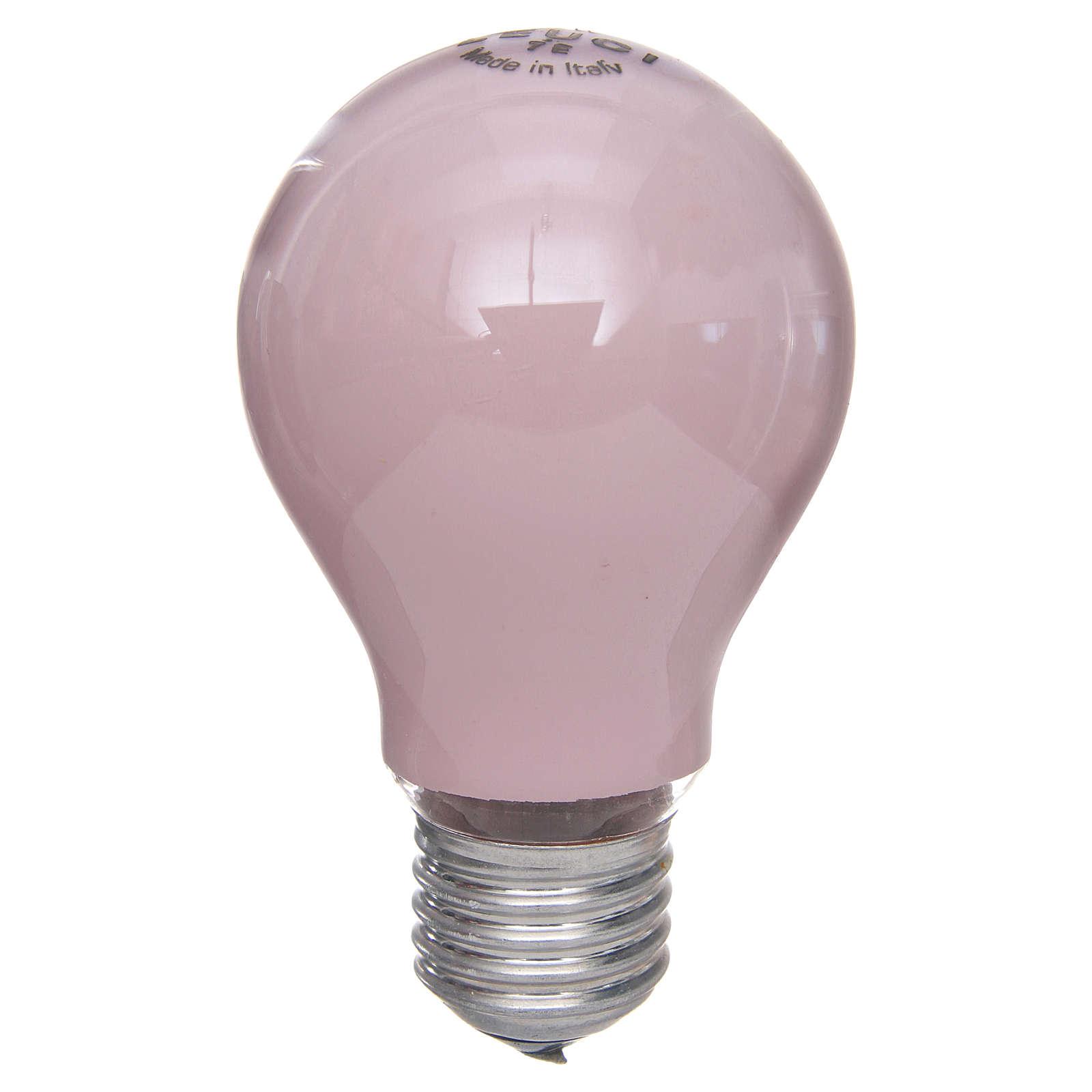 Lampada 60W rosa E27 per illuminazione presepi 4