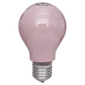 Lampada 60W rosa E27 per illuminazione presepi s1