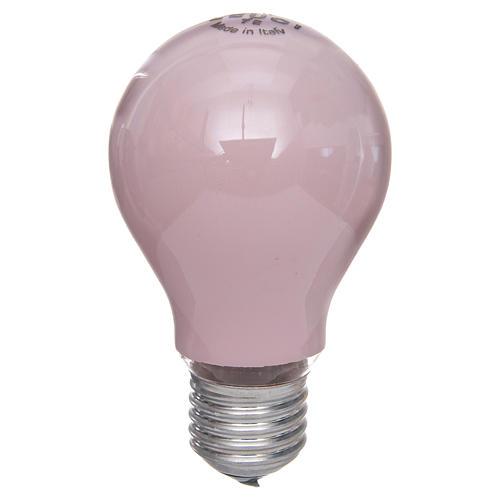 Lampada 60W rosa E27 per illuminazione presepi 1