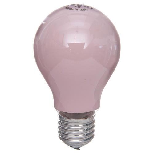 Lamp for nativity lighting 60W, pink, E27 1