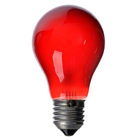 Luzes e Lamparinas para o Presépio: Lâmpada 40W vermelha E27 para iluminação presépio