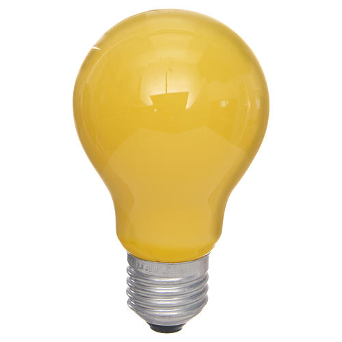 Bombilla 40W E27 amarilla para belén 1