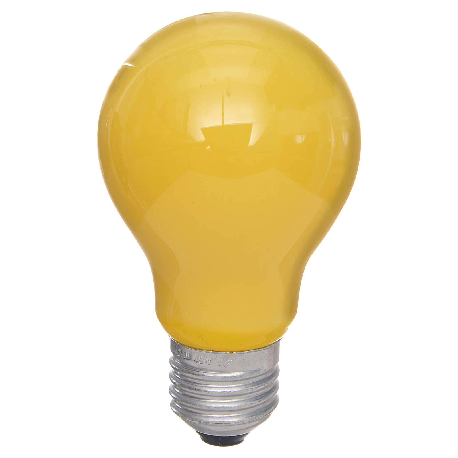 Lampada 40W gialla E27 per illuminazione presepi 4
