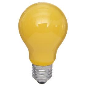 Lampada 40W gialla E27 per illuminazione presepi s1