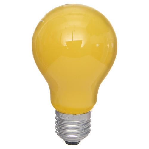 Lampada 40W gialla E27 per illuminazione presepi 1