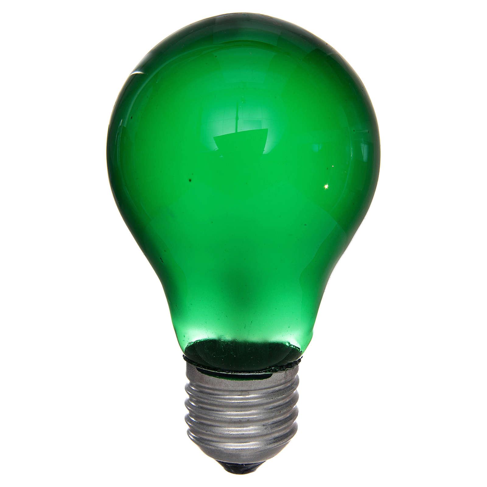 Lampada 40W verde E27 per illuminazione presepi 4