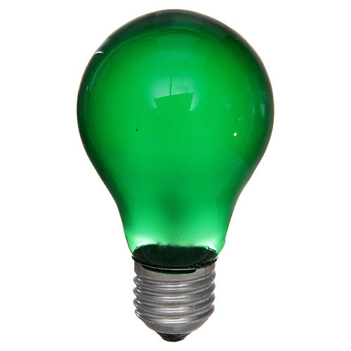 Lampada 40W verde E27 per illuminazione presepi 1