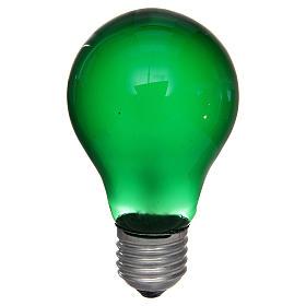 Luzes e Lamparinas para o Presépio: Lâmpada 40W verde E27 para iluminação presépio