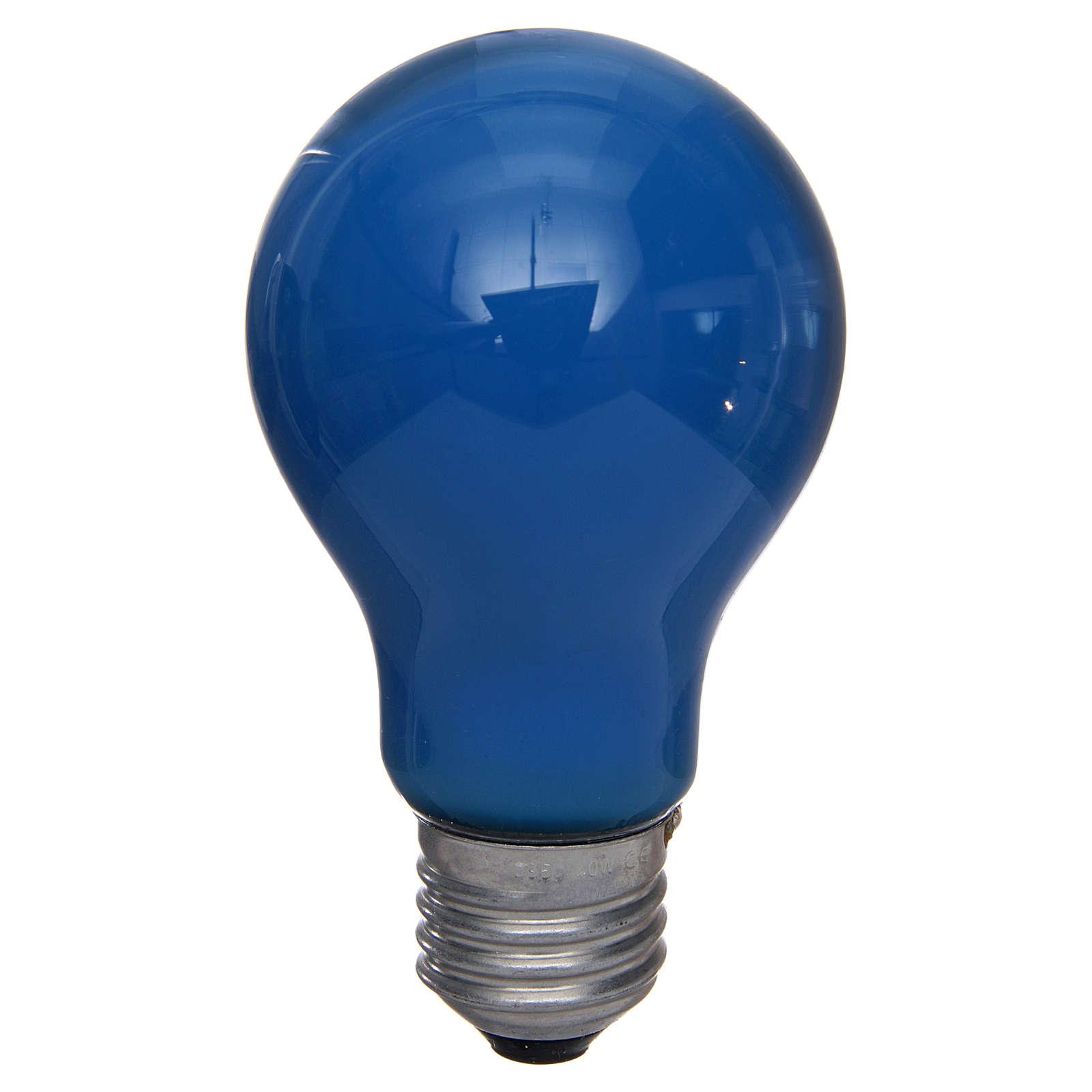 Bombilla 40W azul E27 para belén 4