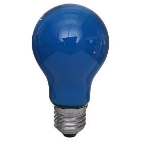 Lampada 40W azzurro E27 per illuminazione presepi s1