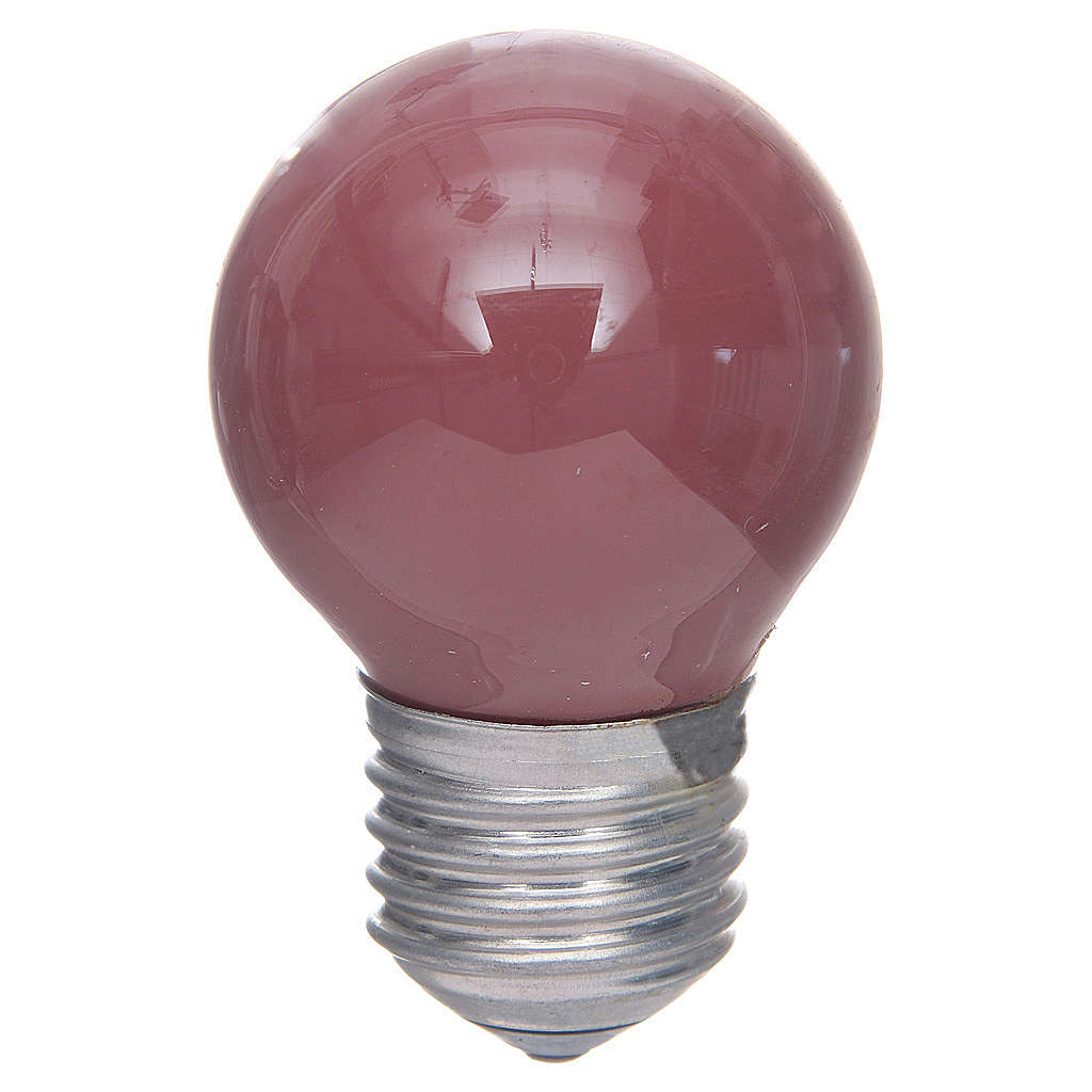 Lampada 40W rosso E25, 45x77 mm per illuminazione presepi 4