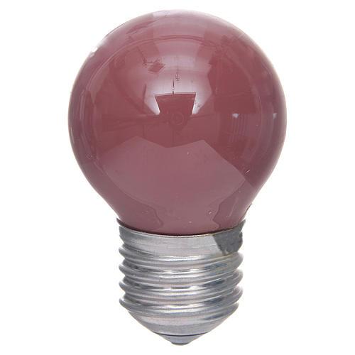 Lampada 40W rosso E25, 45x77 mm per illuminazione presepi 1