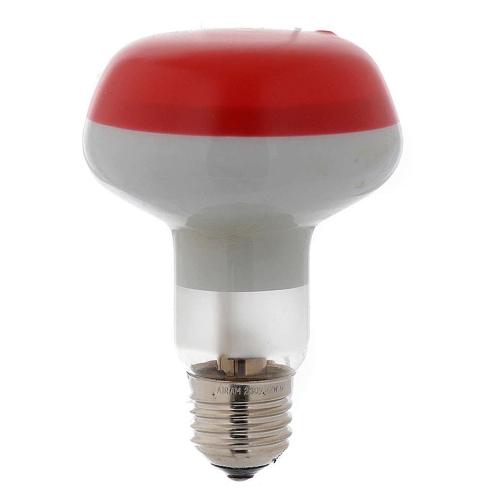 Ampoule réflecteur R80 lumière diffuse 60W E27 rouge 4