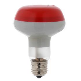Ampoule réflecteur R80 lumière diffuse 60W E27 rouge s1