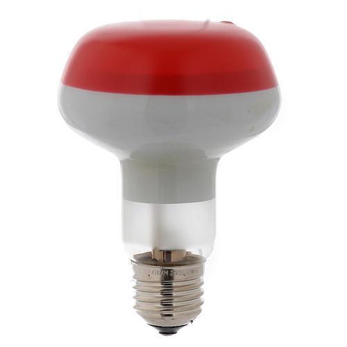 Ampoule réflecteur R80 lumière diffuse 60W E27 rouge 1