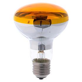 Lampada fascio diffuso 80° gialla E27 illuminazione presepi s1