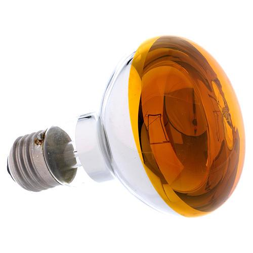 Lampada fascio diffuso 80° gialla E27 illuminazione presepi 2